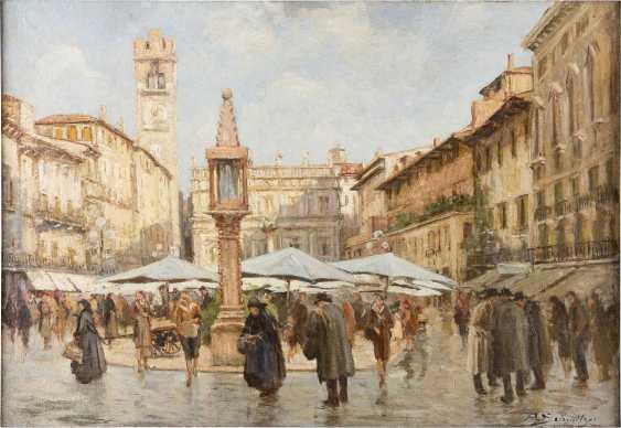 REMIGIO SCHMITZER 1880 - 1963 Piazza della Erbe (Verona) - photo 1