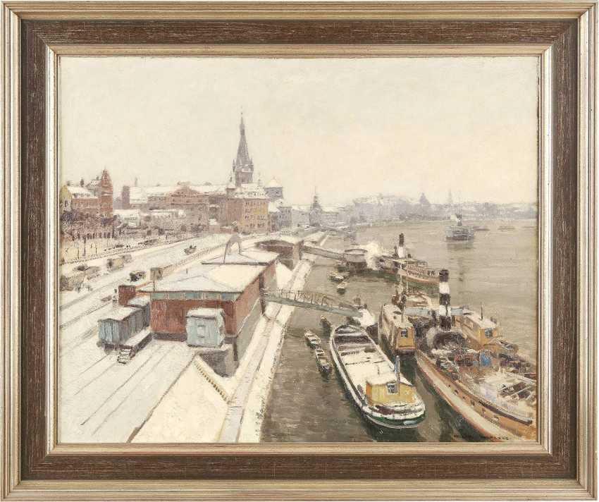 HEINRICH HERMANNS 1862 Düsseldorf - 1942 ebenda Der Rhein bei Düsseldorf im Winter - photo 2