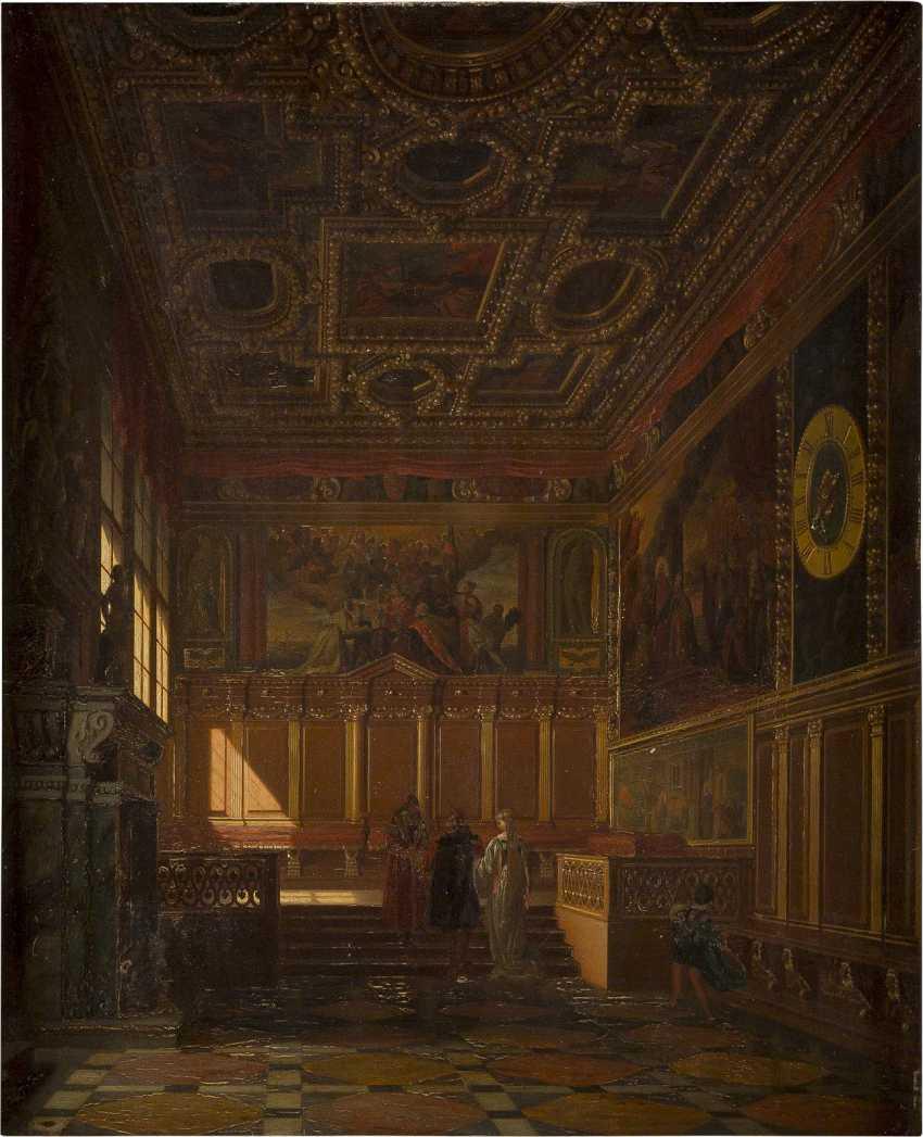 HEINRICH ANTON HEGER 1832 Hadersleben - 1888 München Festsaal im Dogenpalast zu Venedig - photo 1