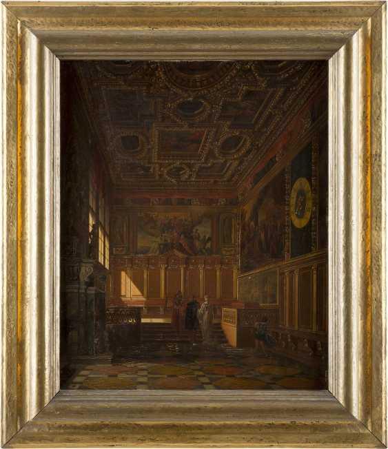 HEINRICH ANTON HEGER 1832 Hadersleben - 1888 München Festsaal im Dogenpalast zu Venedig - photo 2