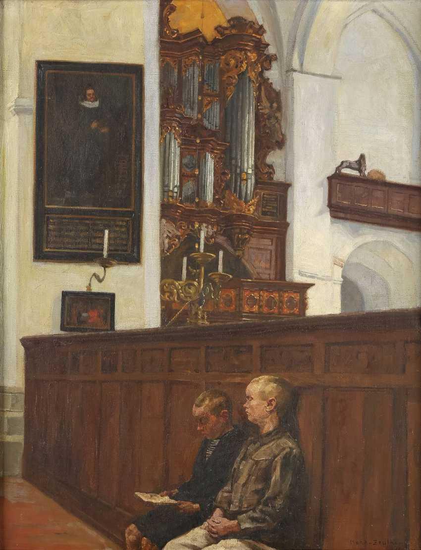 REINHOLD KOCH - ZEUTHEN 1889 Zeuthen bei Berlin Zwei Buben vor der 'Walcker-Orgel' - photo 1