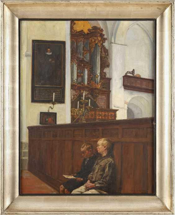 REINHOLD KOCH - ZEUTHEN 1889 Zeuthen bei Berlin Zwei Buben vor der 'Walcker-Orgel' - photo 2