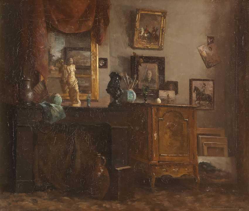 DEUTSCHE INTERIEURMALERIN Tätig um 1900 Wohnzimmer der Künstlerin - photo 1