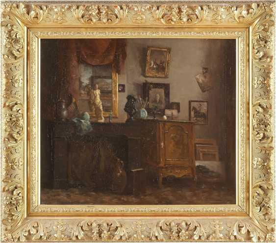 DEUTSCHE INTERIEURMALERIN Tätig um 1900 Wohnzimmer der Künstlerin - photo 2