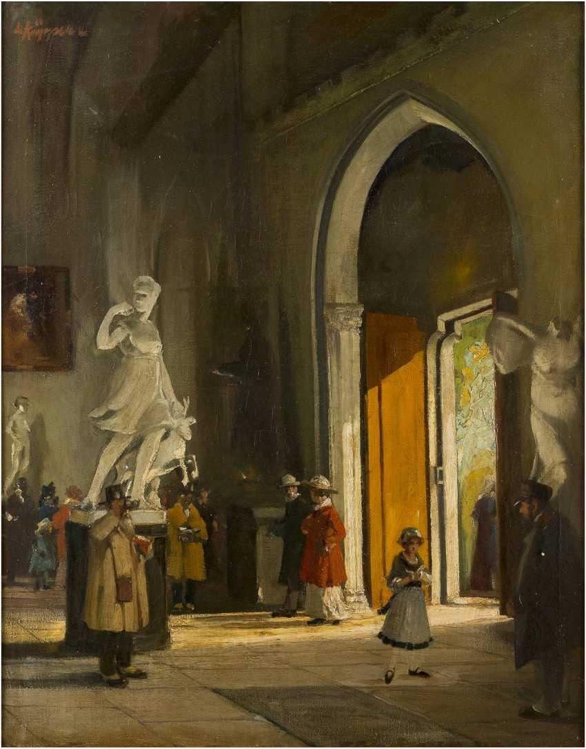 LEO KÜPPERS 1884 Wassenberg - 1946 Düsseldorf In der Skulpturenhalle (Diana von Versailles) - photo 1