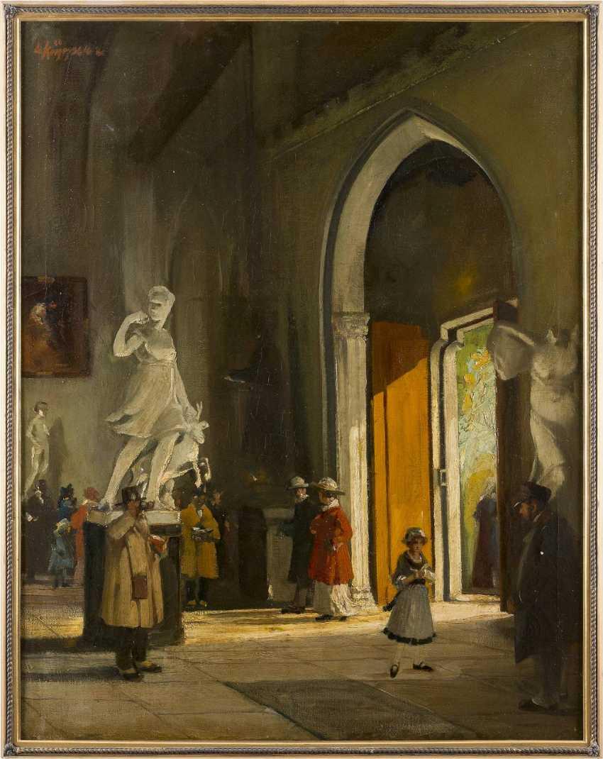 LEO KÜPPERS 1884 Wassenberg - 1946 Düsseldorf In der Skulpturenhalle (Diana von Versailles) - photo 2