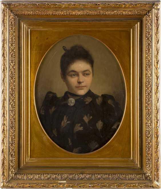 EUGÉNIE BEAUVOIS Tätig um 1900 (Belgien) Portrait einer Dame im Oval - photo 2