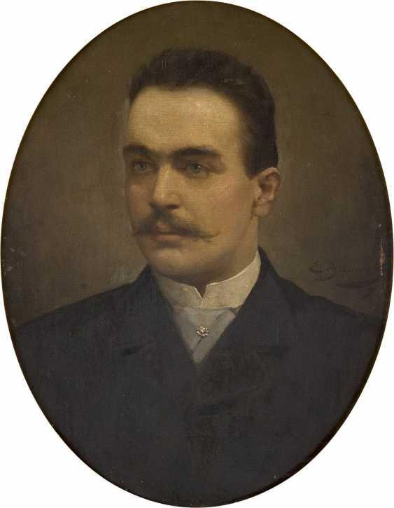 EUGÉNIE BEAUVOIS Tätig um 1900 (Belgien) Portrait eines Herren im Oval - photo 1