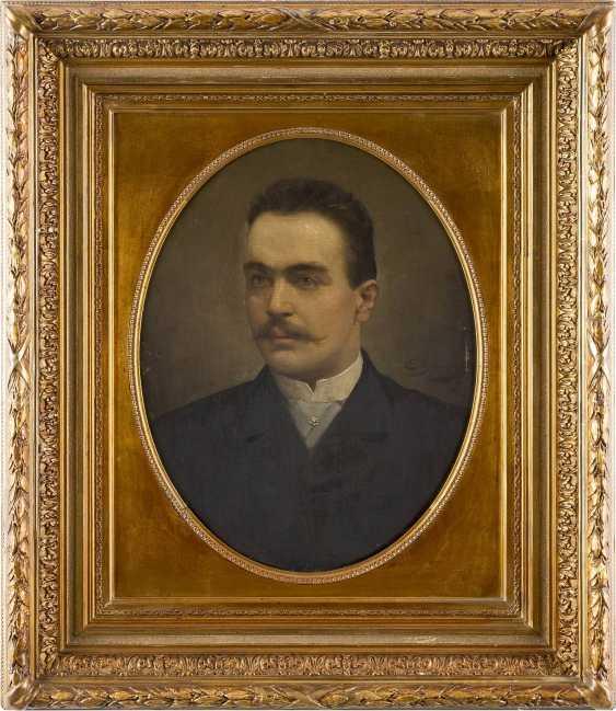 EUGÉNIE BEAUVOIS Tätig um 1900 (Belgien) Portrait eines Herren im Oval - photo 2