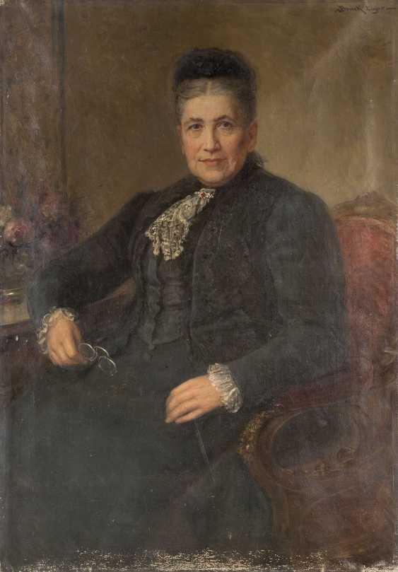 LAJOS BRUCK 1846 Pápa - 1910 Budapest Porträt einer Dame am Schreibtisch - photo 1