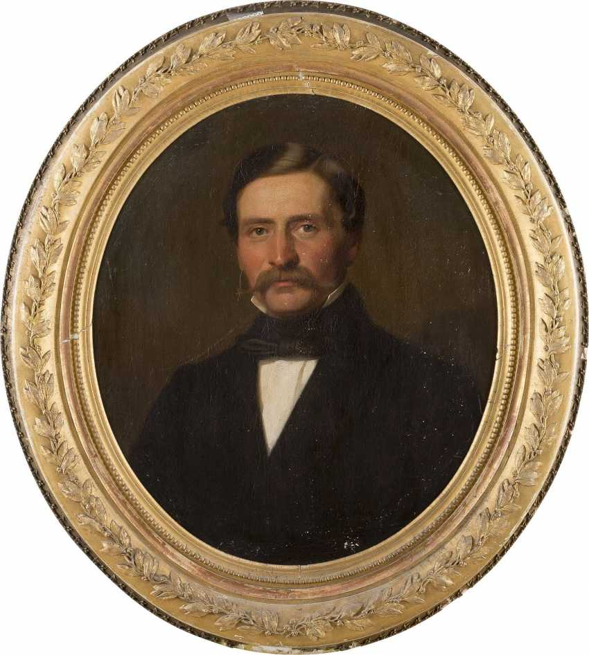 WILHELM GEORG VOLKHART 1815 Herdecke - 1876 Düsseldorf Portraitpaar: Edler Herr (1); Feine Dame (2) - photo 2