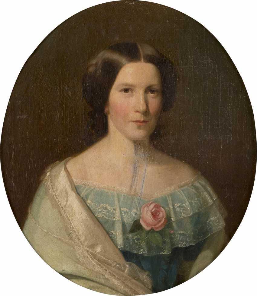 WILHELM GEORG VOLKHART 1815 Herdecke - 1876 Düsseldorf Portraitpaar: Edler Herr (1); Feine Dame (2) - photo 3