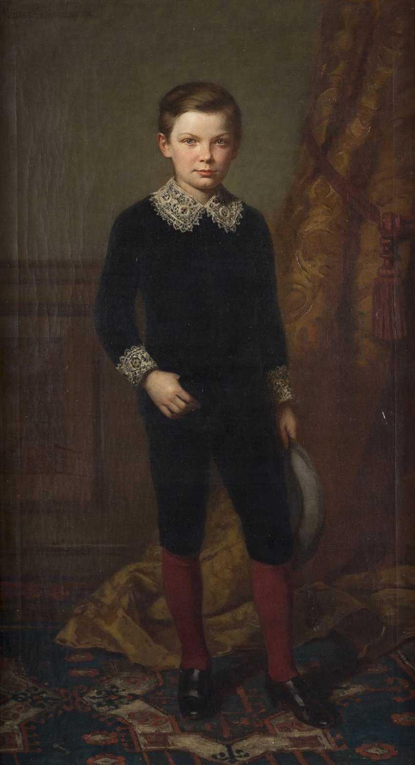 MÜLLER-SCHÖNHAUSEN 1838 Edles Jungenporträt - photo 1