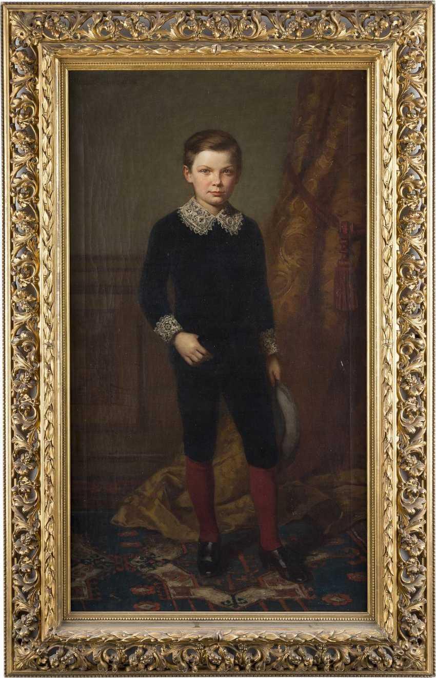 MÜLLER-SCHÖNHAUSEN 1838 Edles Jungenporträt - photo 2