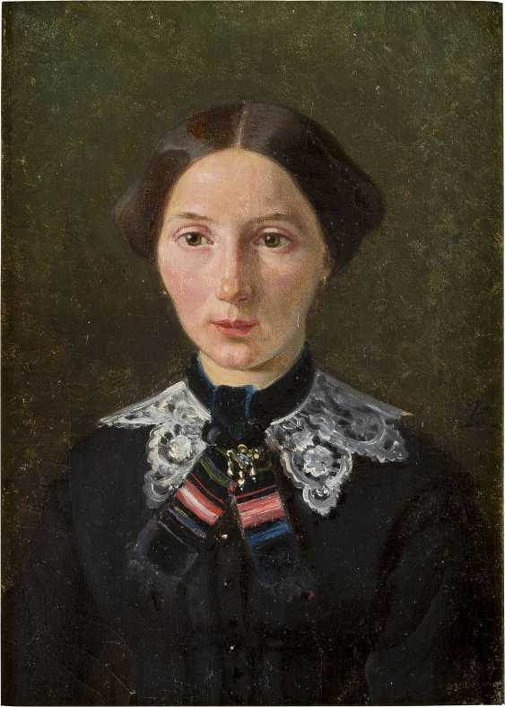 MONOGRAMMIST CB Tätig 2. Hälfte 19. Jahrhundert Porträt einer Dame - photo 1