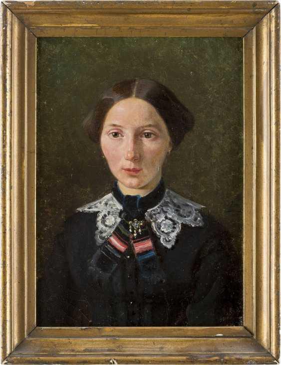 MONOGRAMMIST CB Tätig 2. Hälfte 19. Jahrhundert Porträt einer Dame - photo 2