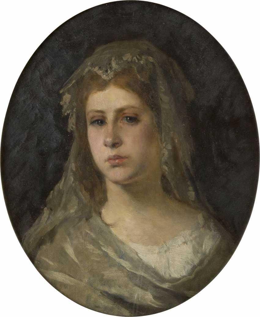 CARL OTTO (ATTR.) 1830 Osterode - 1902 Schleißheim Porträt einer jungen Braut - photo 1