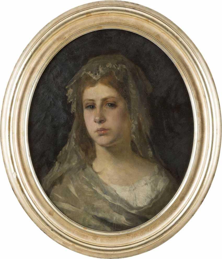 CARL OTTO (ATTR.) 1830 Osterode - 1902 Schleißheim Porträt einer jungen Braut - photo 2
