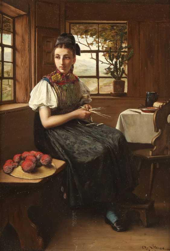 SÜDDEUTSCHER GENREMALER Tätig um 1870 Junges Mädchen in schwarzwälder Tracht - photo 1