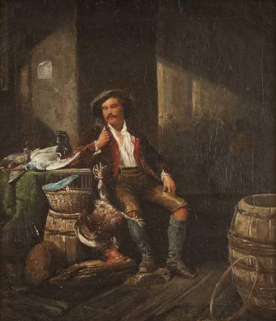 MÜNCHNER SCHULE Tätig 2. Hälfte 19. Jahrhundert Jäger mit erbeutetem Geflügel - photo 1