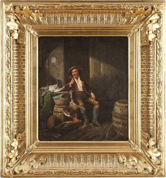 MÜNCHNER SCHULE Tätig 2. Hälfte 19. Jahrhundert Jäger mit erbeutetem Geflügel - photo 2