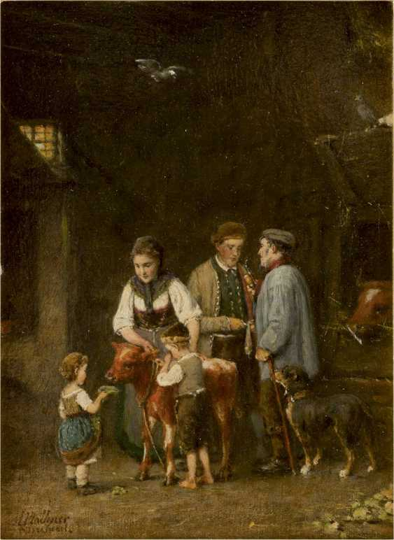 HERMANN PLATHNER 1831 - 1902 Das verkaufte Kälbchen - photo 1