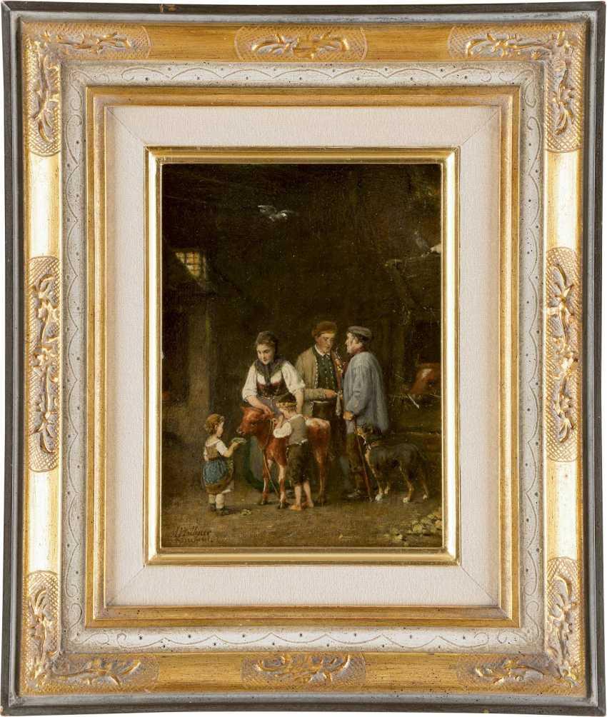 HERMANN PLATHNER 1831 - 1902 Das verkaufte Kälbchen - photo 2