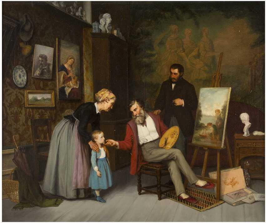ADOLF VON BECKER 1831 Helsinki - 1909 Vevey Im Atelier - photo 1
