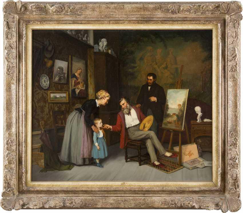 ADOLF VON BECKER 1831 Helsinki - 1909 Vevey Im Atelier - photo 2