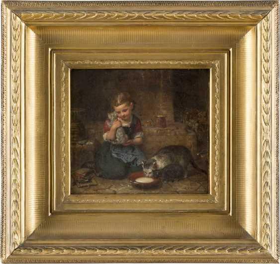 MINNA HEEREN 1823 Hamburg - 1898 Ebenda Mädchen mit Katzen - photo 2