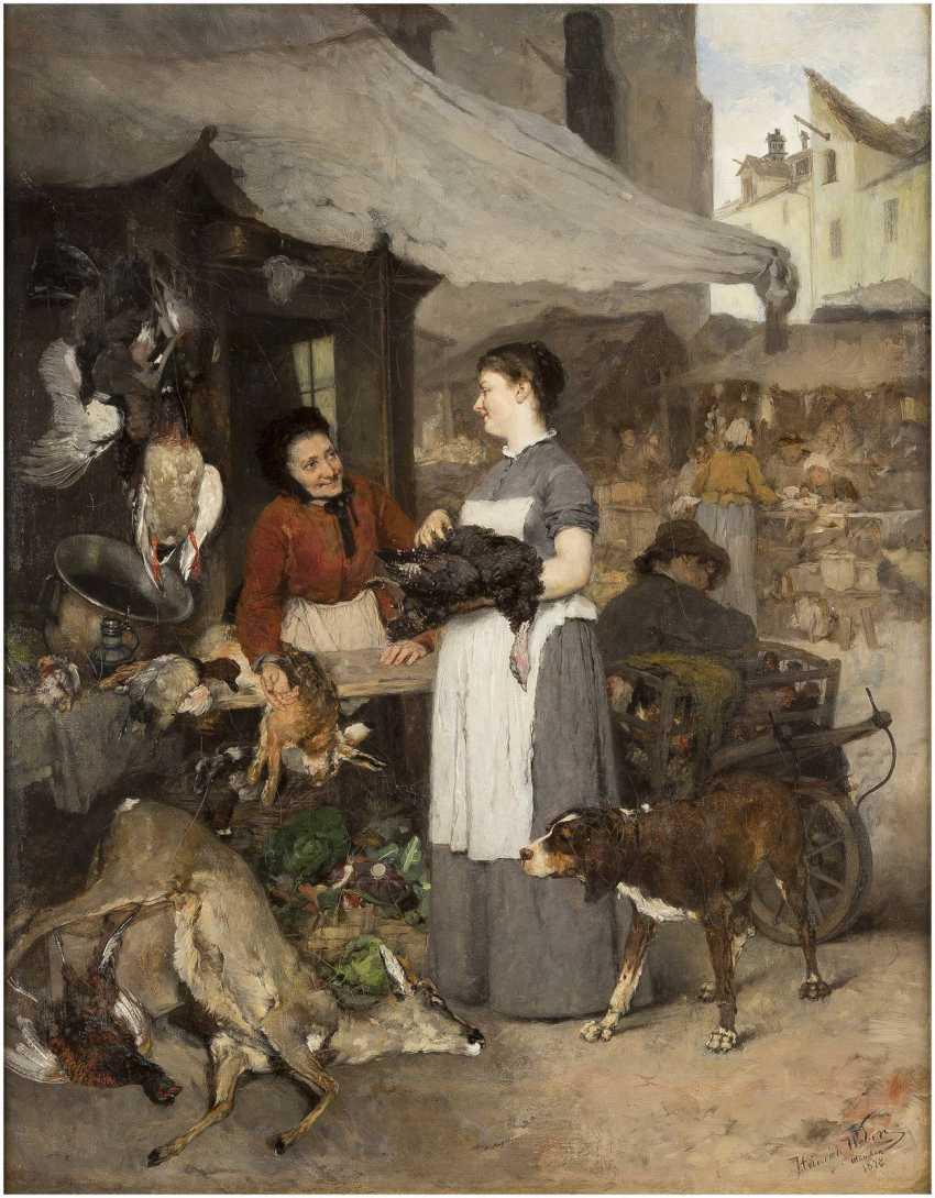 HEINRICH WEBER 1843 Esplingerode - 1913 ebenda Bei der Wildprethändlerin - photo 1