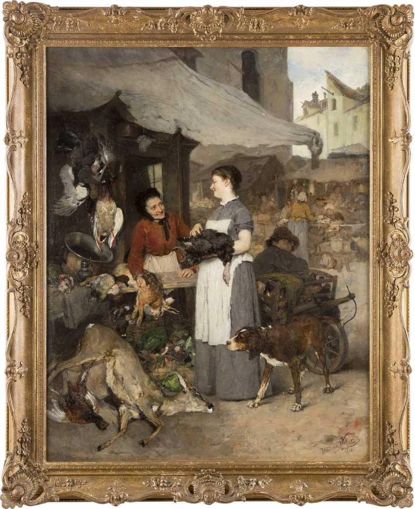 HEINRICH WEBER 1843 Esplingerode - 1913 ebenda Bei der Wildprethändlerin - photo 2