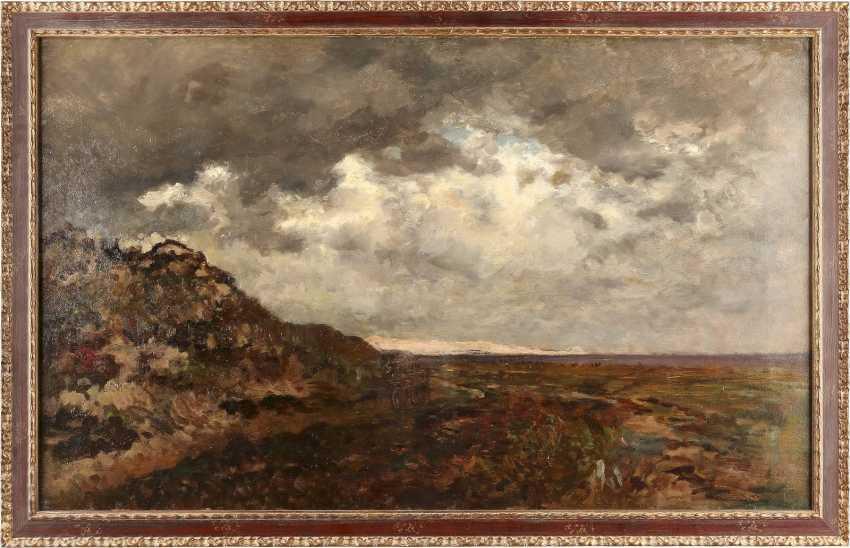ROBERT SCHLEICH 1845 München - 1934 ebenda Weite Landschaft mit aufziehendem Gewitter - photo 2