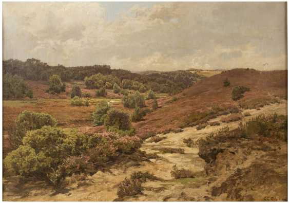CARL COVEN SCHIRM 1852 Wiesbaden - 1928 Amelinghausen Blühende Heidelandschaft - photo 1