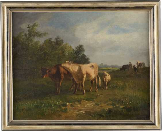 CONSTANT TROYON 1810 Sèvres - 1865 Paris Kühe auf sommerlicher Weide - photo 2