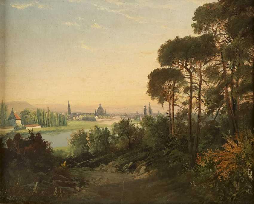 OSWALD ACHENBACH (UMKREIS) 1827 Düsseldorf - 1905 ebenda Italienische Landschaft - photo 1