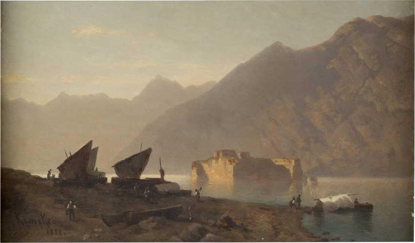 OTTO WERNER HENNING VON KAMEKE (ATTR.) 1826 Stolp - 1899 Berlin Ansicht des Gardasees - photo 1