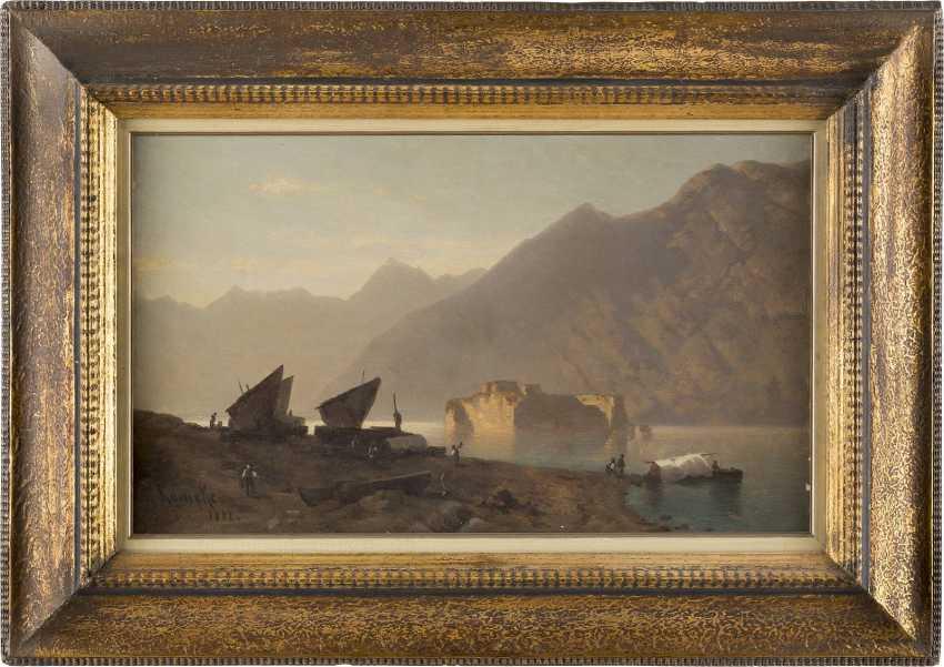 OTTO WERNER HENNING VON KAMEKE (ATTR.) 1826 Stolp - 1899 Berlin Ansicht des Gardasees - photo 2