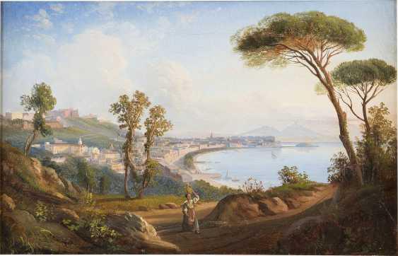 ENGLISCHER MALER Tätig um 1850 ANSICHT DER BUCHT VOR NEAPEL - photo 1