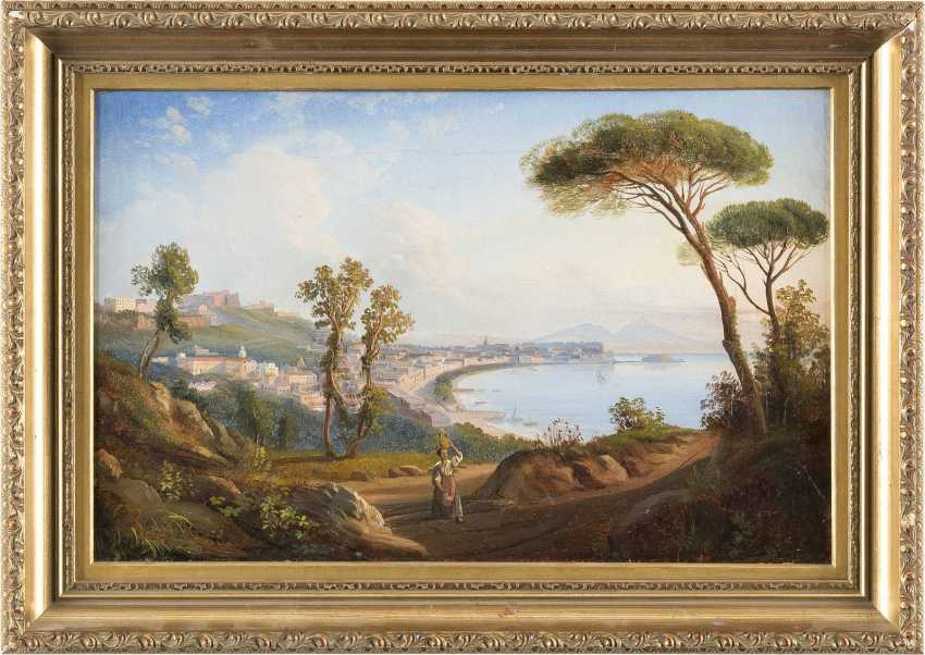 ENGLISCHER MALER Tätig um 1850 ANSICHT DER BUCHT VOR NEAPEL - photo 2