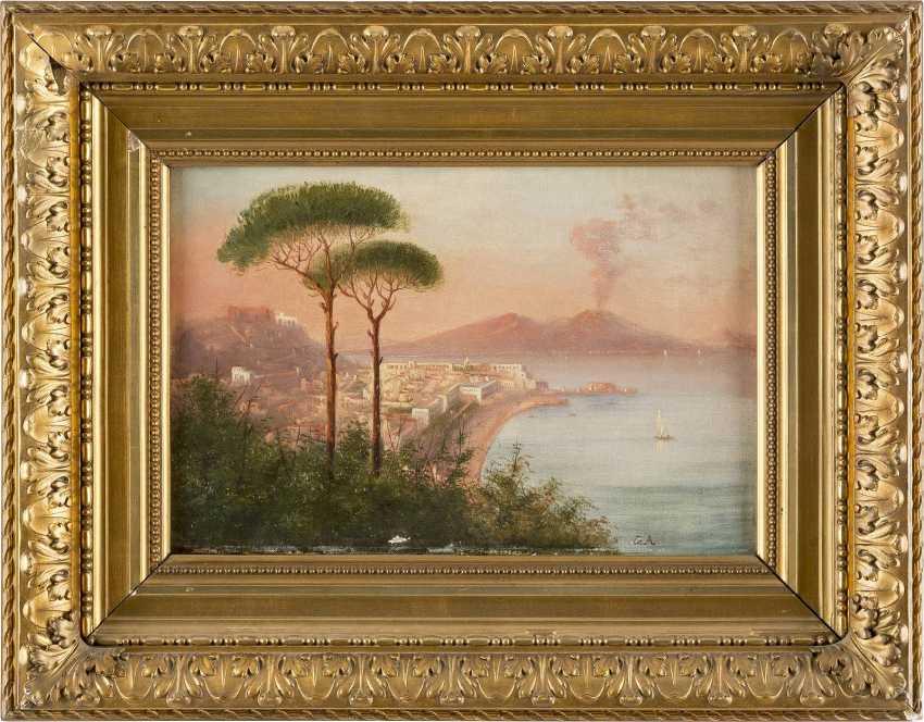 OSWALD ACHENBACH (KOPIE NACH) 1827 Düsseldorf - 1905 ebenda Blick auf den Vesuv am Golf von Neapel - photo 2
