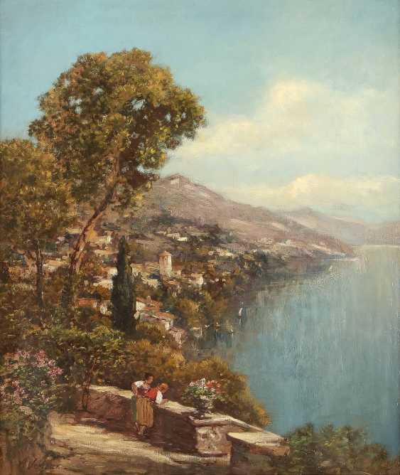 A. VERLEUR Tätig 1. Hälfte 20. Jahrhundert Ansicht von Capri - photo 1