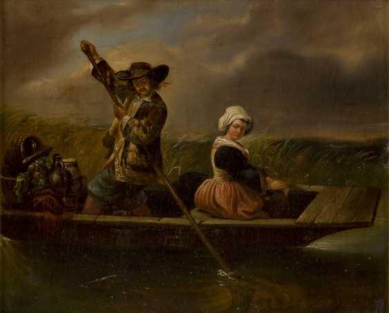 ITALIENISCHER GENREMALER Tätig 2. Hälfte 19. Jahrhundert Die Überfahrt - photo 1
