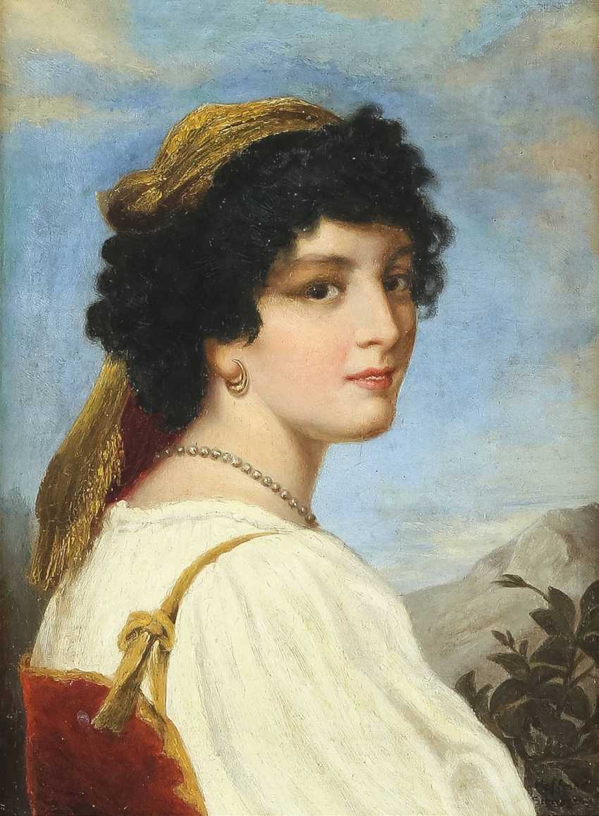 HOFFMAN Tätig 2. Hälfte 19. Jahrhundert Schöne Italienerin - photo 1