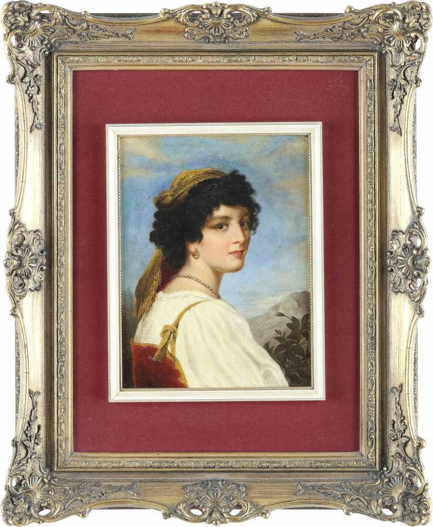 HOFFMAN Tätig 2. Hälfte 19. Jahrhundert Schöne Italienerin - photo 2
