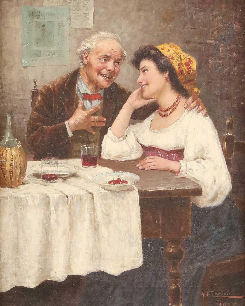 A. DE CLEMENTE Tätig Mitte 20. Jahrhundert (Florenz) Ein ungleiches Paar - photo 1