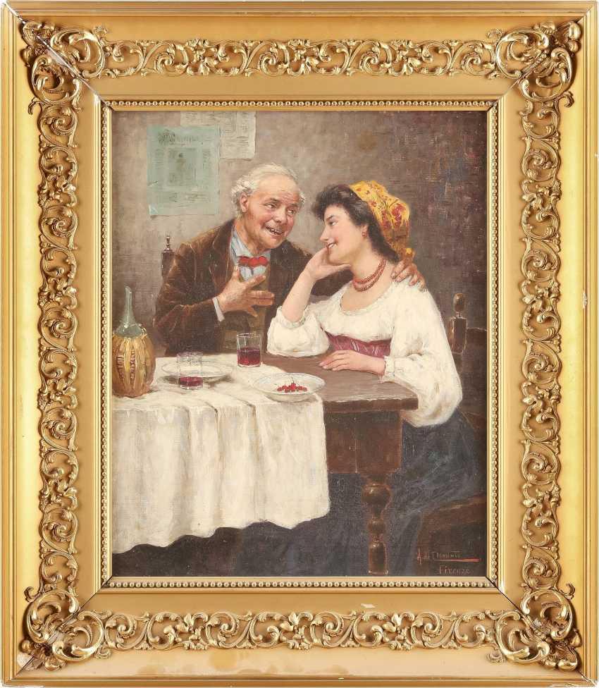 A. DE CLEMENTE Tätig Mitte 20. Jahrhundert (Florenz) Ein ungleiches Paar - photo 2