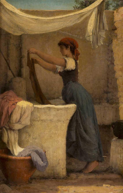 MONOGRAMMIST E.H. Tätig um 1870 Wäscherin auf Capri - photo 1