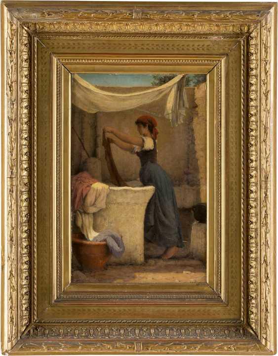 MONOGRAMMIST E.H. Tätig um 1870 Wäscherin auf Capri - photo 2