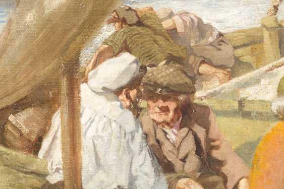 Im Aufnahmetext steht 'unbekannter Meister', FH fragen. WILHELM SARDEMANN Tätig um 1900 München Italienische Fischer - photo 3